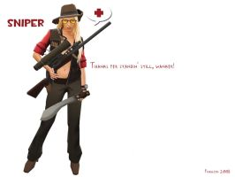team fortress 2 sniper by iFrau