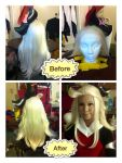 Wig Styling: New Edea Lee wig from Bravely Default by Sora12Hearts