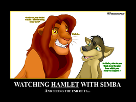 Watching Hamlet with Simba by Pouasson-de-oro