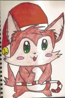 Christmas Kitty by SkunkyRainbow270