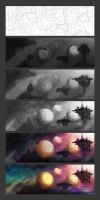 Space Barge Progression by ryanmalm