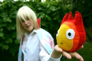 Wizard Howl and Calcifer by DangerSocksTheater