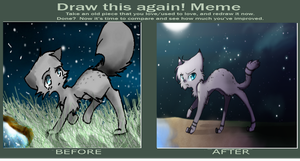 ashfur before an after by pichuspokeball