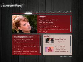 Passion For Beauty lay out 1 by webgraphix