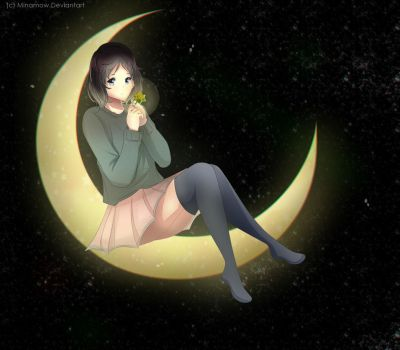 Moon without the star by Minamow