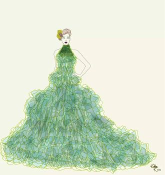 the green dress by papercuts