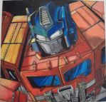 Optimus Prime by 21FlyingBananas