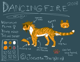 Dancingfire reference sheet by homeqrown