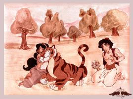 Jasmine and aladdin: Memories by FreeWingsS