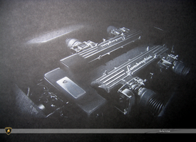 Lamborghini V12 6.2L engine by w0lfb0i