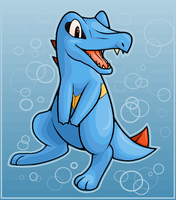Totodile by Dinaria