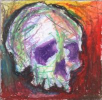 Expressionism Skull by kiltpower