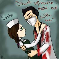 'Shut up, Nurse...' Markiplier in Mad Father by anonymouswind