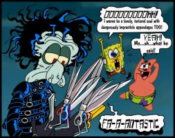 Squidward Scissorhands by mightyfilm