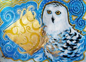 Blue Owl by Miruna-Lavinia
