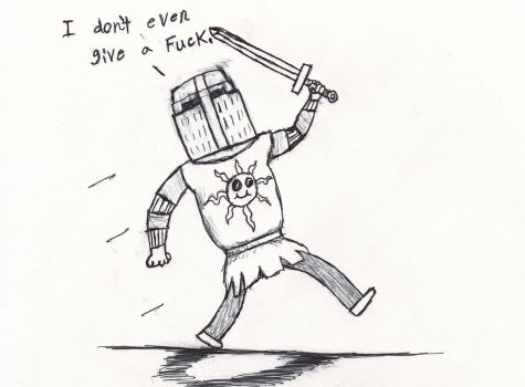 Solaire not giving a fuck by Moomochi