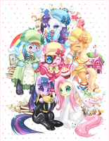 Mane 6 Voices In Japanese by tsurukinoki