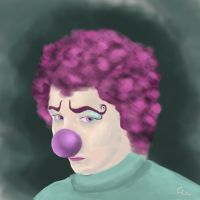 sad clown by gabylafolle