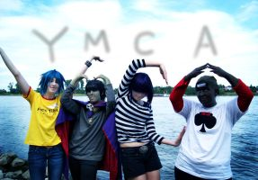 GoRiLLaZ Cosplay 208 YMCA by Murdoc-lein
