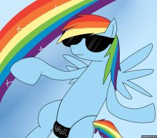 Rainbow Dash: The Cool Harlem Shake by Diblet