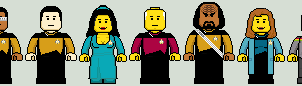 Lego'd Star Trek TNG by Ripplin