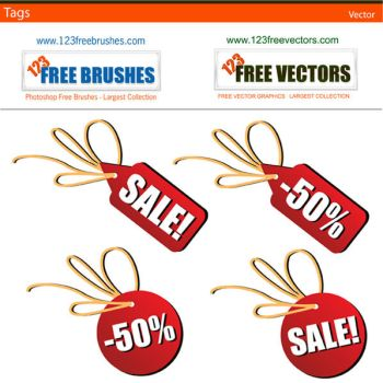 Sales Tag Vector by 123freevectors