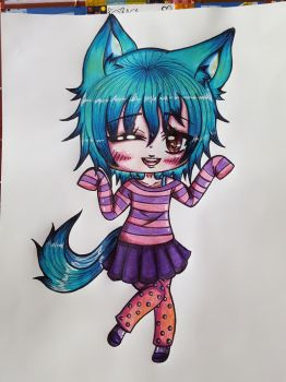 Chibi Commission  for SparkMaster37 by MissyAki
