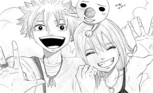 Rave Master - HaruxElie with Plue by ChristianStrange3