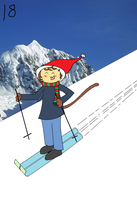 Kittyboy skiing by cornishmouse