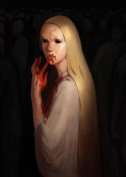 Scary Evil Blonde (Happy Halloween :-) by Nianemis