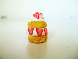 Polymer Clay Strawberry Shortcake by Number1FMAfangirl