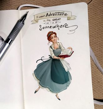 Notes and sketches   Belle by SimonaBonafiniDA