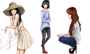 More oc fashion sketches by cayechuu