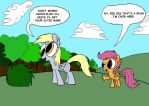 Scootaloo's Big Sister by WaggonerCartoons