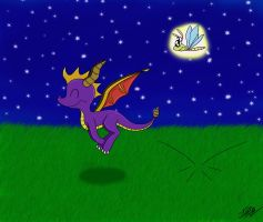 Spyro the Bouncing Dragon by vigilantefreak
