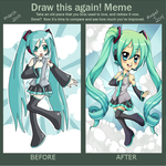 Miku Hatsune Before and After by SweetxSnowxDream