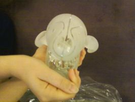 Glass Coyote Skull Front by Scubacat17
