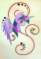 Twilight Sparkle Tattoo Design by Lil-Penguins