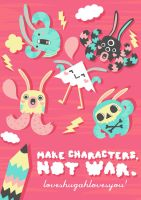 make characters not war by loveshugah