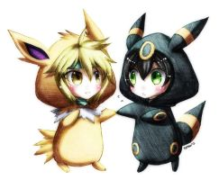 CL: Jolteon + Umbreon by Fortranica
