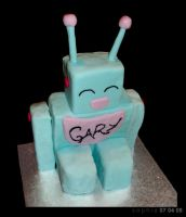 Robot Cake by spiderdijon