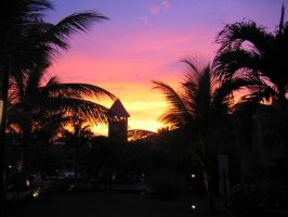 Sunset Dominican Republic by LuffieJJ
