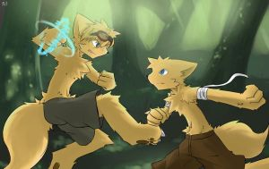 forest fight by Raif6708