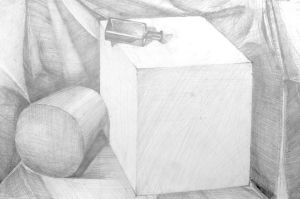 the cube and the cylinder by allholic