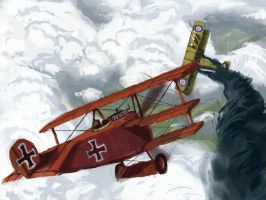 Red Baron by aliensamurai