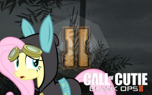 Black Ops 2 Fluttershy Wallpaper by SLII