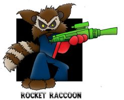 lil' Rocket Raccoon by 5chmee