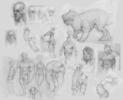 Sketchdump 2 2013 by awesomeplex