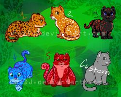 Leopard babies ADOPTS: open! by FoxDJ