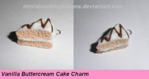 VanillaBtrcream Cake Charm by MiniatureTemptations